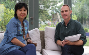 Irene Ng with Internet of Me editor Simon Carroll