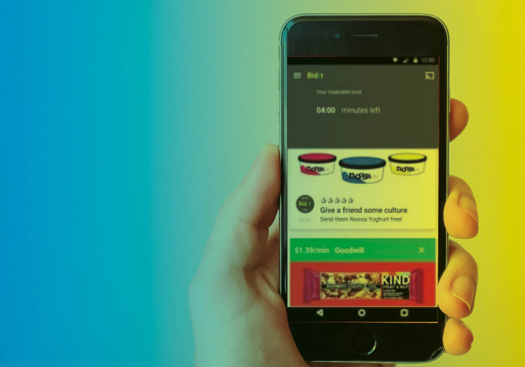 The Bid/r app lets brands bid for your attention